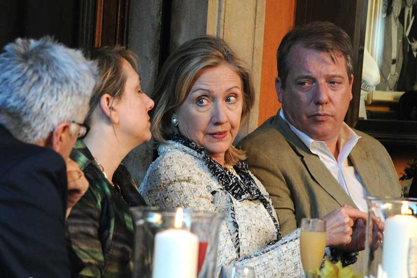 Hillary Clinton all'Harry's Bar di Roma.