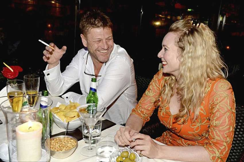 Sean Bean all'Harry's Bar di Roma.